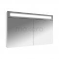 Spiegelkast met Verlichting Filo 100x65cm Hoogglans Wit Maxaro Filo K31-1000-40410