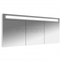 Spiegelkast met Verlichting Filo 140x65cm Hoogglans Wit Maxaro Filo K31-1400-40410
