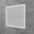 Inbouw Spiegelkast met Verlichting Trento 100x70cm Spiegelverwarming en Stopcontact