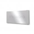 Badkamerspiegel Solo 140x60cm Spiegelhouders Vierkant Chroom Maxaro Solo M01-140610A