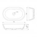 Waskom Mintra Solid Surface Mat Wit 55x32,5cm Ovaal