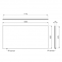 Badkamerspiegel met LED Verlichting Vivo 120x60cm IR Sensor
