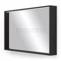 Badkamerspiegel Zwart met LED Verlichting 100x60cm Maxaro Preto M50-1000-40100