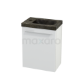 Toiletmeubel met Wastafel Natuursteen Modulo+ Pico Hoogglans Wit 40cm