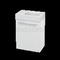 Toiletmeubel met Wastafel Mineraalmarmer Modulo+ Pico Mat Wit 40cm