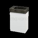Toiletmeubel met Wastafel Natuursteen Modulo+ Pico Mat Wit 40cm