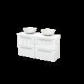 Badkamermeubel voor Waskom 120cm Modulo+ Plato Slim Hoogglans Wit 4 Lades Vlak Maxaro Modulo+ Plato Slim BMD000161