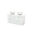 Badkamermeubel voor Waskom 120cm Modulo+ Plato Slim Hoogglans Wit 4 Lades Lamel Maxaro Modulo+ Plato Slim BMD000166
