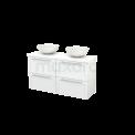 Badkamermeubel voor Waskom 120cm Modulo+ Plato Slim Hoogglans Wit 4 Lades Kader Maxaro Modulo+ Plato Slim BMD000171