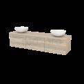 Badkamermeubel voor Waskom 180cm Modulo+ Plato Eiken 3 Lades Vlak Maxaro Modulo+ Plato BMK002514