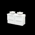 Badkamermeubel voor Waskom 120cm Modulo+ Plato Hoogglans Wit 4 Lades Vlak Maxaro Modulo+ Plato BMK002530