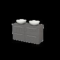 Badkamermeubel voor Waskom 120cm Modulo+ Plato Basalt 4 Lades Vlak Maxaro Modulo+ Plato BMK002580