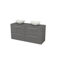 Badkamermeubel voor Waskom 140cm Modulo+ Plato Basalt 4 Lades Vlak Maxaro Modulo+ Plato BMK002670