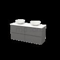 Badkamermeubel voor Waskom 140cm Basalt Greeploos Modulo+ Plato Mat Wit Blad Maxaro Modulo+ Plato BMK002677