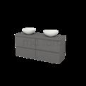 Badkamermeubel voor Waskom 140cm Modulo+ Plato Basalt 4 Lades Greeploos Maxaro Modulo+ Plato BMK002679