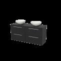 Badkamermeubel voor Waskom 140cm Modulo+ Plato Carbon 4 Lades Vlak Maxaro Modulo+ Plato BMK002682