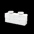 Badkamermeubel voor Waskom 160cm Modulo+ Plato Hoogglans Wit 4 Lades Lamel Maxaro Modulo+ Plato BMK002716