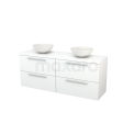 Badkamermeubel voor Waskom 160cm Modulo+ Plato Mat Wit 4 Lades Vlak Maxaro Modulo+ Plato BMK002734
