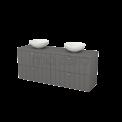 Badkamermeubel voor Waskom 160cm Modulo+ Plato Basalt 4 Lades Lamel Maxaro Modulo+ Plato BMK002763