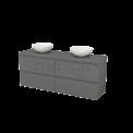 Badkamermeubel voor Waskom 160cm Modulo+ Plato Basalt 4 Lades Greeploos Maxaro Modulo+ Plato BMK002769