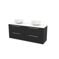 Badkamermeubel voor Waskom 160cm Carbon Vlak Modulo+ Plato Mat Wit Blad Maxaro Modulo+ Plato BMK002770