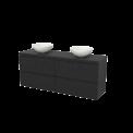 Badkamermeubel voor Waskom 160cm Modulo+ Plato Carbon 4 Lades Greeploos Maxaro Modulo+ Plato BMK002781