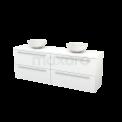 Badkamermeubel voor Waskom 180cm Modulo+ Plato Hoogglans Wit 4 Lades Vlak Maxaro Modulo+ Plato BMK002800