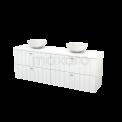 Badkamermeubel voor Waskom 180cm Modulo+ Plato Hoogglans Wit 4 Lades Lamel Maxaro Modulo+ Plato BMK002806