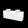 Badkamermeubel voor Waskom 180cm Modulo+ Plato Mat Wit 4 Lades Lamel Maxaro Modulo+ Plato BMK002830
