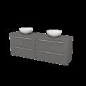 Badkamermeubel voor Waskom 180cm Modulo+ Plato Basalt 4 Lades Vlak Maxaro Modulo+ Plato BMK002850