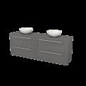 Badkamermeubel voor Waskom 180cm Modulo+ Plato Basalt 4 Lades Kader Maxaro Modulo+ Plato BMK002856