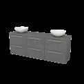 Badkamermeubel voor Waskom 180cm Modulo+ Plato Basalt 6 Lades Vlak Maxaro Modulo+ Plato BMK002940