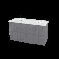 Badkamermeubel 120cm Modulo+ Basalt 2 Lades Lamel Wastafel Keramiek Maxaro Modulo+ BMP000699