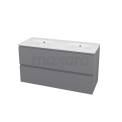 Badkamermeubel 120cm Modulo+ Basalt 2 Lades Greeploos Wastafel Keramiek Maxaro Modulo+ BMP000725