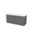 Badkamermeubel 140cm Modulo+ Basalt 4 Lades Kader Wastafel Keramiek Maxaro Modulo+ BMP004167