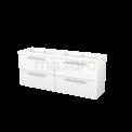 Badkamermeubel 160cm Modulo+ Mat Wit 4 Lades Vlak Wastafel Mineraalmarmer Maxaro Modulo+ BMP004238