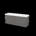 Badkamermeubel 160cm Modulo+ Basalt 4 Lades Kader Wastafel Mineraalmarmer Maxaro Modulo+ BMP004244