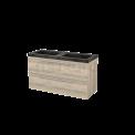 Badkamermeubel 120cm Modulo+ Eiken 2 Lades Vlak Wastafel Natuursteen Blue Stone Maxaro Modulo+ BMP004336