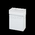 Toiletmeubel met Wastafel Mineraalmarmer Curve Hoogglans Wit 40cm Maxaro Curve BMT000004