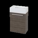 Toiletmeubel met Wastafel Mineraalmarmer Canto Grijs Eiken 40cm MOCOORI Canto BMT000012