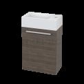 Toiletmeubel met Wastafel Mineraalmarmer Canto Grijs Eiken 40cm Maxaro Canto BMT000201