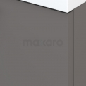 Badkamermeubel 70cm Modulo+ Basalt 2 Lades Vlak Wastafel Keramiek