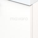 Badkamermeubel 100cm Modulo+ Mat Wit 1 Lade Vlak Wastafel Glas