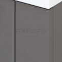 Badkamermeubel 120cm Modulo+ Basalt 4 Lades Lamel Wastafel Mineraalmarmer