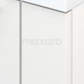 Badkamermeubel voor Waskom 60cm Hoogglans Wit Lamel Modulo+ Plato Eiken Blad