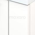 Badkamermeubel voor Waskom 70cm Mat Wit Lamel Modulo+ Plato Carbon Blad
