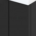 Badkamermeubel 80cm Modulo+ Carbon 2 Lades Lamel Wastafel Keramiek
