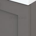 Badkamermeubel 100cm Modulo+ Basalt 2 Lades Kader Wastafel Mineraalmarmer