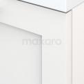 Lage Badkamerkast met Wastafelblad 60x35cm Modulo+ Plato Hoogglans Wit Kader