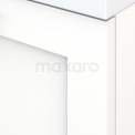 Badkamermeubel 80cm Modulo+ Mat Wit 2 Lades Kader Wastafel Natuursteen Blue Stone